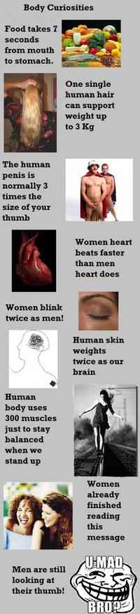 Les curiosités du corps humain