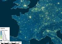 Densité de population en France