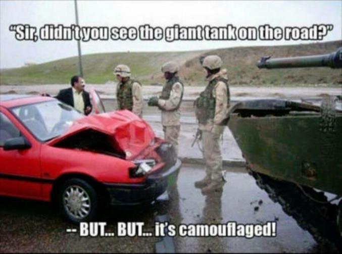 La puissance du camouflage.