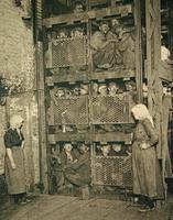 Fin de journée à la mine de charbon , Belgique 1920