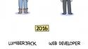 Bûcheron vs développeur web