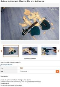 Petite annonce pour une guitare