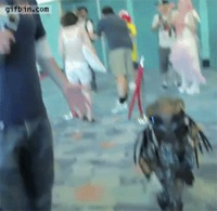 Cosplay mini-predator