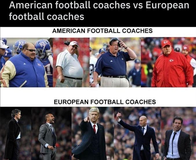 """Il est vrai que la notion de """"football"""" est différente."""