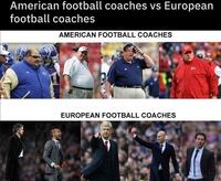 Entraîneurs américains comparés aux entraîneurs européens