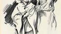 Affiche de 1917 : Prostitution & vampires marchent bras dessus-bras dessous