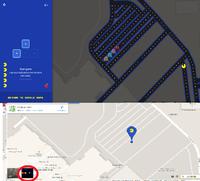 Jouer à pacman sous google map