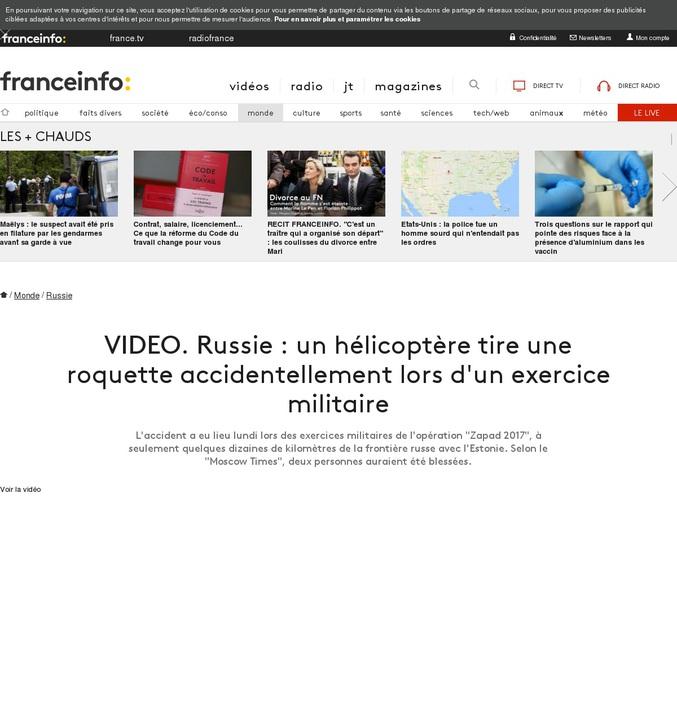 """""""Le ministère russe nie l'existence de blessés""""."""