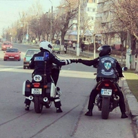 Des motards