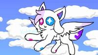 kittydog flying