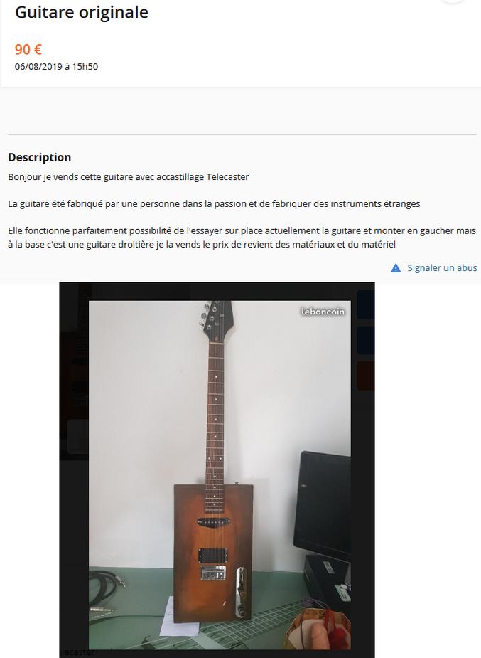 Je vous donne le lien vers l'annonce si vous voulez faire une offre (je ne pense à personne en particulier...) : https://www.leboncoin.fr/instruments_de_musique/1656058214.htm/