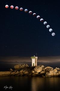 L'eclipse lunaire du 21 janvier