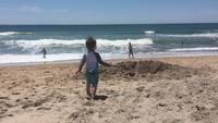 Dernier jour des vacances à la plage
