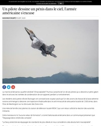 Un pilote dessine un pénis dans le ciel, l'armée américaine s'excuse