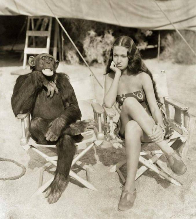 Avec Dorothy Lamour