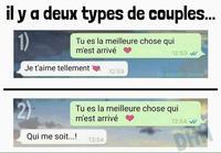 2 types de couples