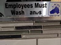 Par mesure d'hygiène....