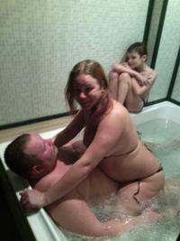 Se laver en famille