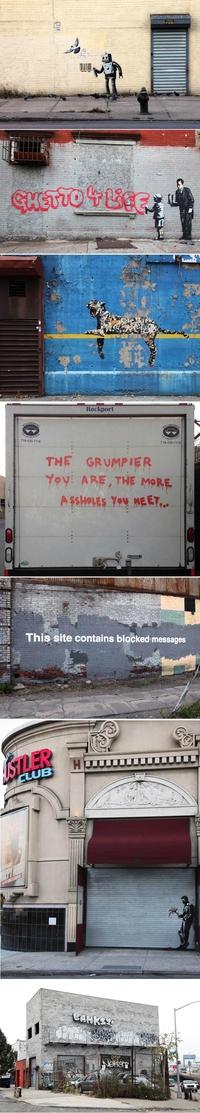 Ghetto 4 Life – Dernières créations de Banksy à New-York