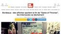 """Bordeaux : des affiches spoilent la fin de """"Game of Thrones"""", les internautes se déchaînent"""