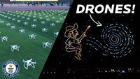 600 drones pour un hommage à Van Gogh