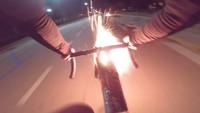 Système de défense sur un vélo