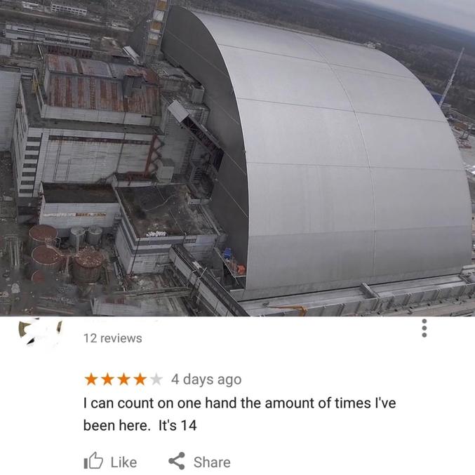 Captain Obvious: sarcophage du réacteur de Tchernobyl