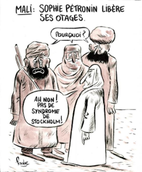 Charlie Hebdo du 14 octobre 2020. Couverture alternative.