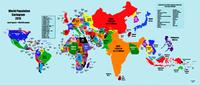 Carte du monde selon la taille de la population