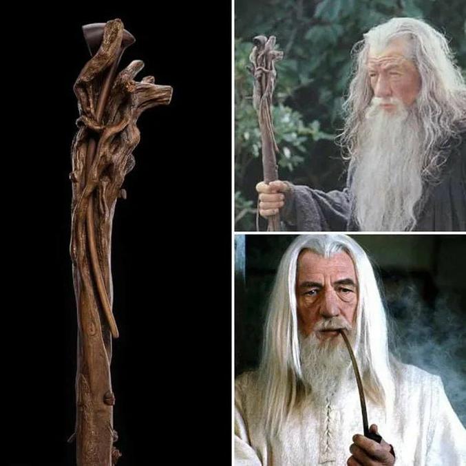 Le bâton de Gandalf fait aussi porte-pipe.