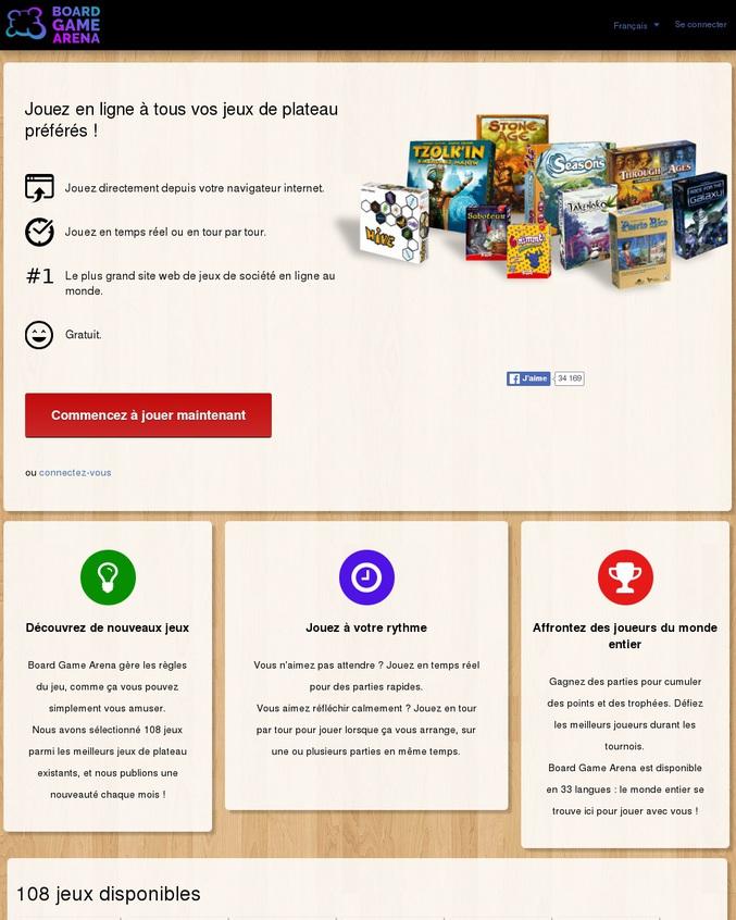 l'adresse d'un site qui propose tout plein de jeux de plateaux en ligne.