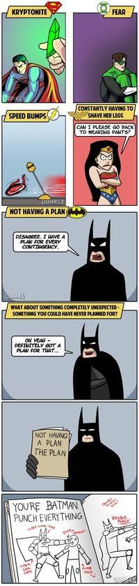 Les points faibles des super heros