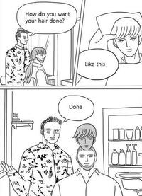 Au coiffeur