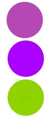 Dans chaque cercle un motif différent