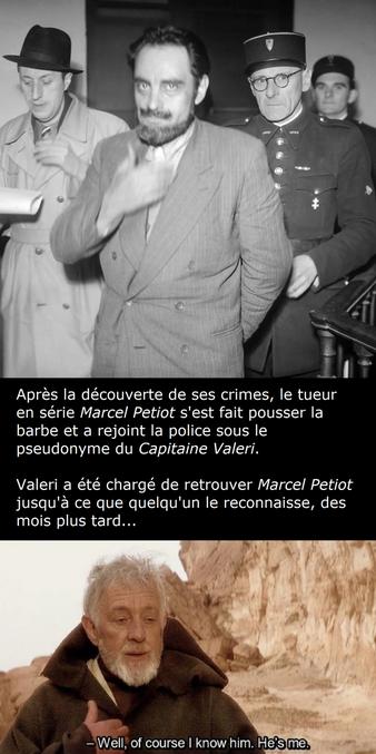 Durant la seconde guerre mondiale, le Dr Marcel Petiot a attiré chez lui des personnes souhaitant être exfiltrées. Sur ses conseils, elles arrivaient avec leurs biens les plus précieux dans une valise, et repartaient en fumée depuis son four ou dans la chaux. Le nombre de ses victimes est estimé entre 27 et 63. Une sorte de sous-traitance locale des camps de concentration...  https://fr.wikipedia.org/wiki/Marcel_Petiot
