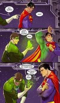 La lanterne verte offre un cadeau