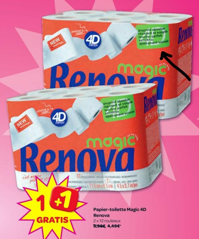 Les vertus cachées du papier chiotte Renova Magic 4D