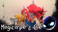 Pepakura motion Pokemon : Magicarpe et Léviator
