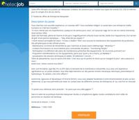 Offre d'emploi ... Sérieux s'abstenir ?