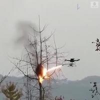 Drone lance flamme