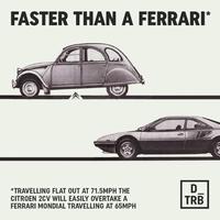 Plus rapide qu'une Ferrari !*