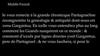 L'évolution du Français