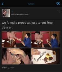 Quand tu veux vraiment ton dessert