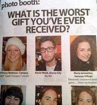 Quel est le pire cadeau que vous ayez reçu ?