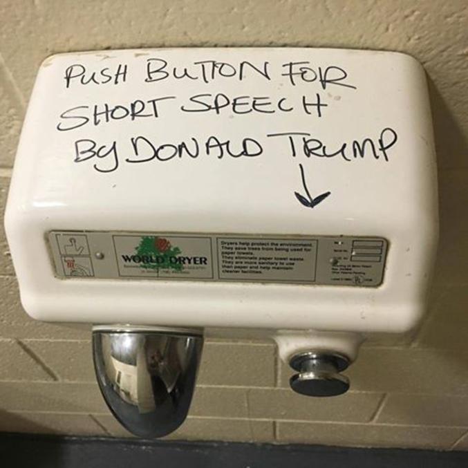 pour entendre un discours de Donald Trump.