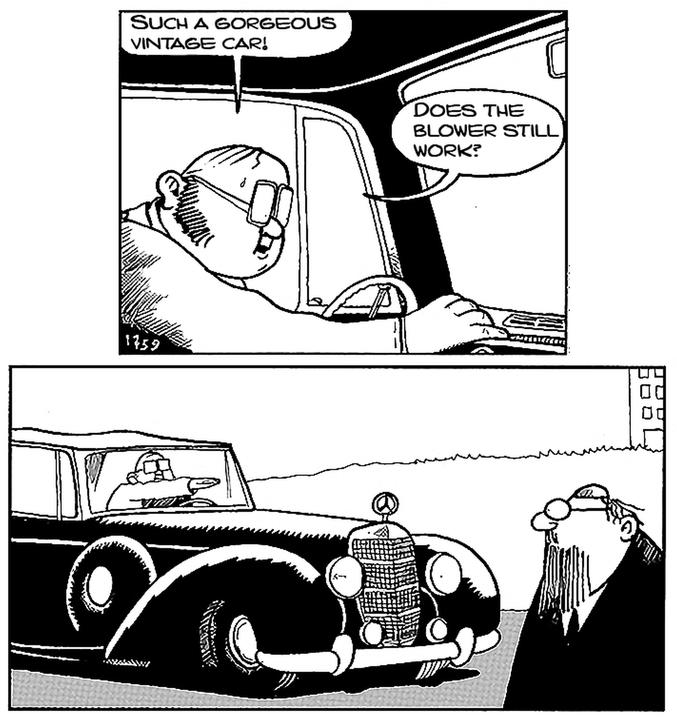 """""""Quelle belle voiture ancienne ! Est-ce que le ventilateur fonctionne encore ?"""""""