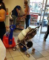 Transpoter un enfant et du gaz