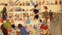 Un magasin de jouets au milieu des années 50 aux USA