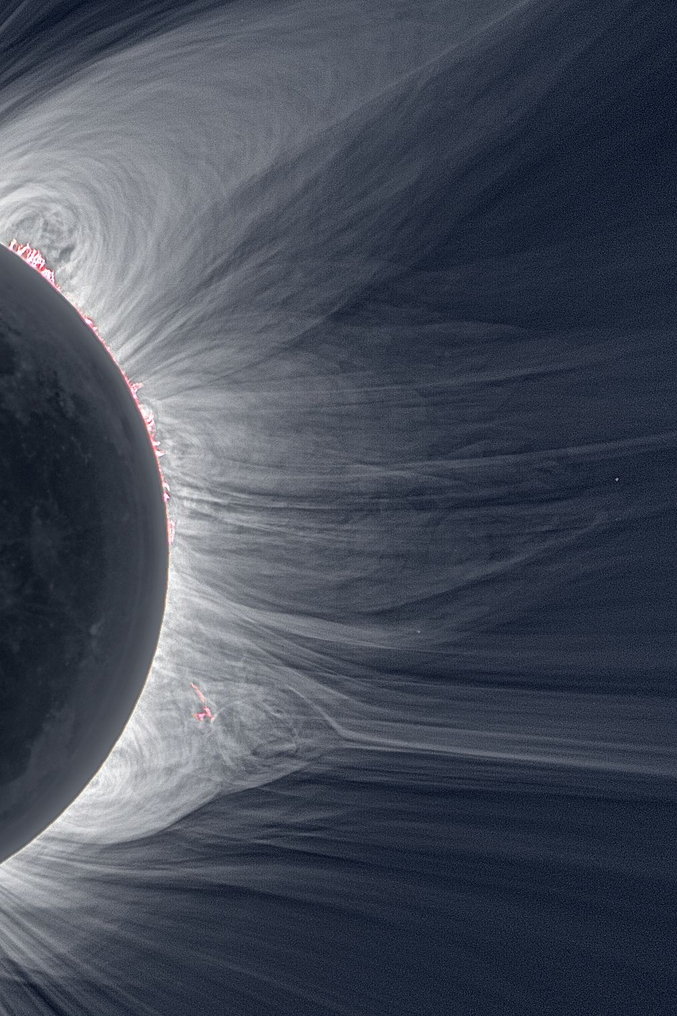 Immortalisée lors d'une éclipse totale.