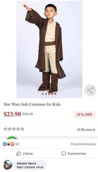 Costume de chevalier Jedi